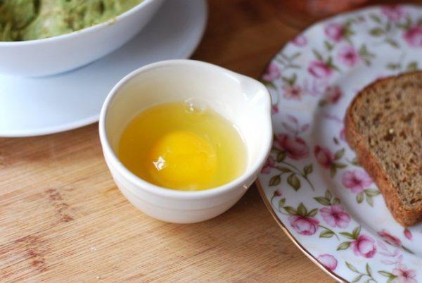 Подготовка яйца