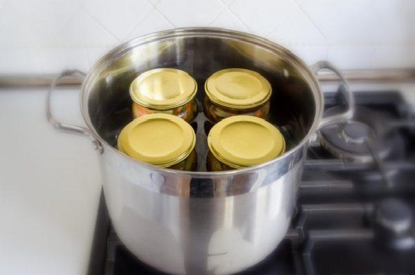 Стерилизация банок с закуской