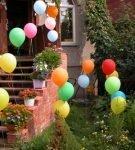 Воздушные шары на даче