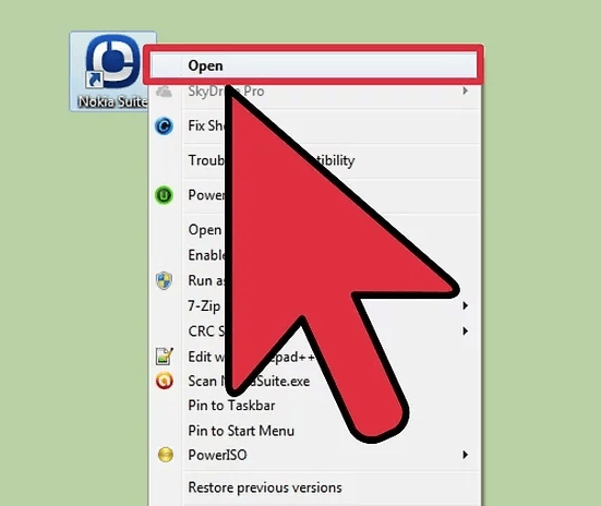 Запуск программы Nokia PC Suite