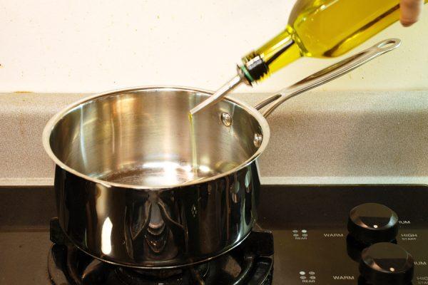Нагрев масла для маринада