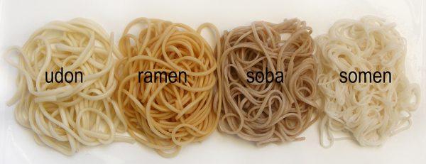 Разновидности японской лапши