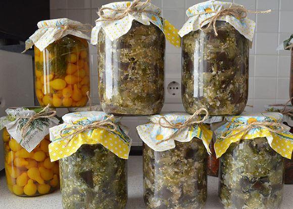 Баклажаны как грибы на зиму с укропом и чесноком