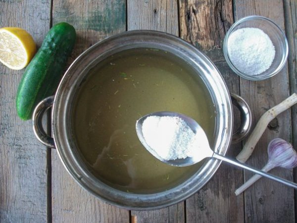 Лимонная кислота для маринада в чайной ложке