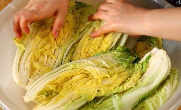Промывка капусты от соли