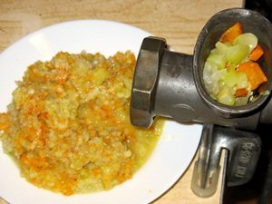 Овощи в мясорубке