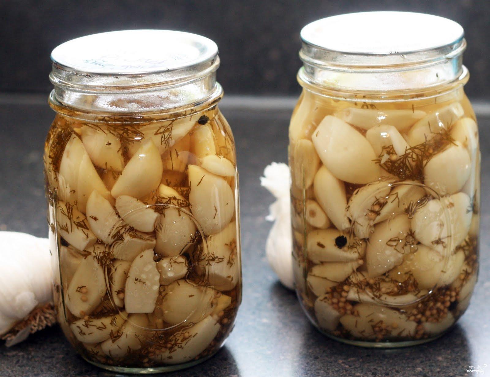 Рецепты маринованного чеснока