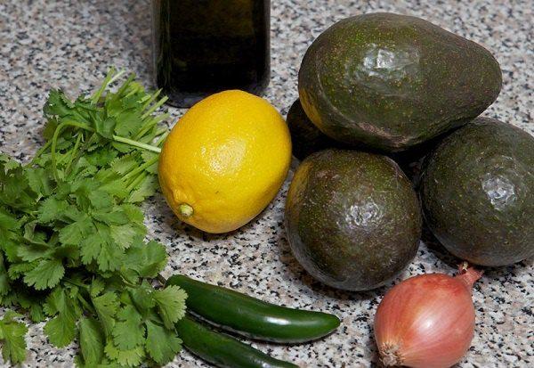 продукты для классического гуакамоле