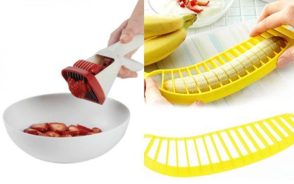 Приспособления для нарезания клубники и бананов