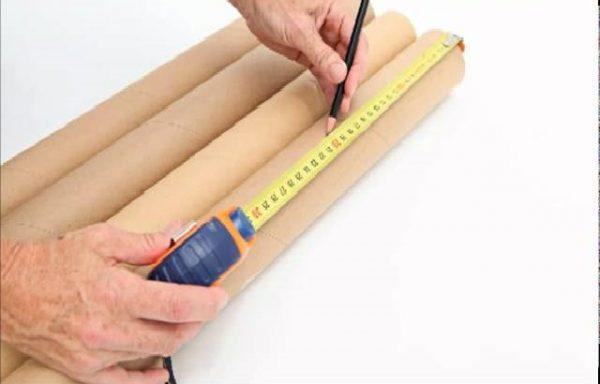 Разметка картонных труб