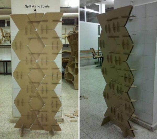 Готовая ширма из картонных модулей