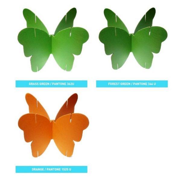 Модули для ширмы из картонных бабочек