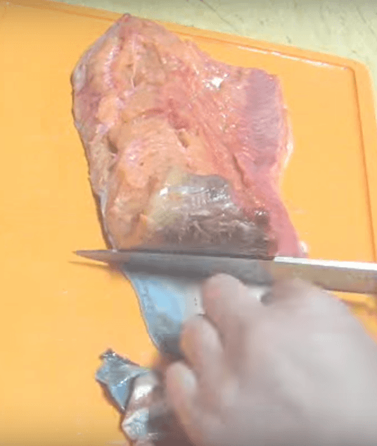 Процесс снятия шкуры