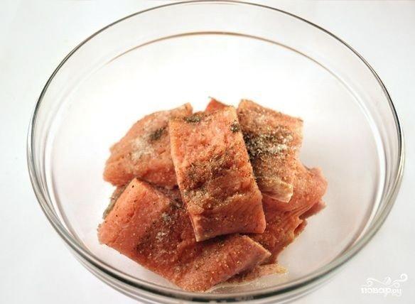 Филе горбуши со смесью для засолки