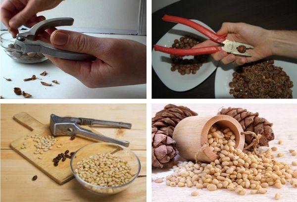 Чистка орехов подручными средствами