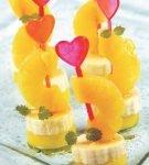 фруктовые канапе с мандарином