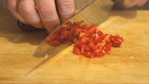 Измельчение перца чили