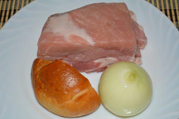Ингредиенты для простого мясного фарша