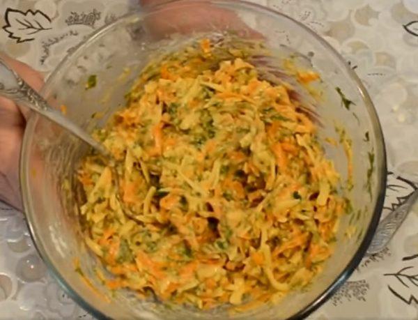 Тесто на оладьи с тыквой и сыром