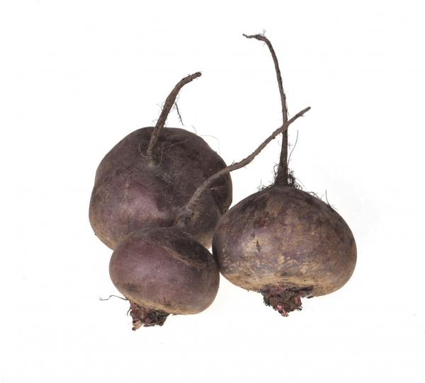 Плоды свёклы с корнями