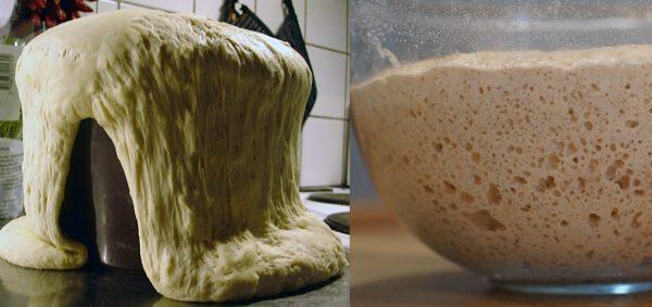Дрожжевое тесто в процессе подъёма