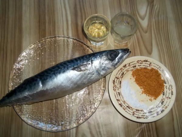 Продукты для приготовления скумбрии в духовке