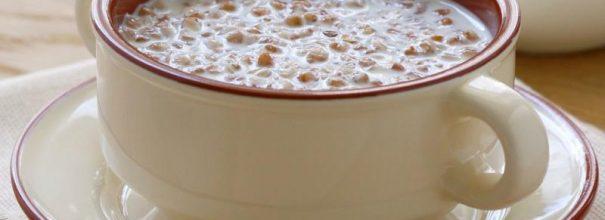 Бульонница с молочной гречневой кашей