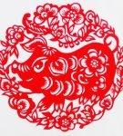 Шаблон «Свинья в цветах»
