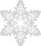 Шаблон «Снежинка»