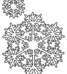 Шаблон «Две снежинки»