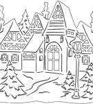 Шаблон «Зимний вечер»
