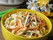 Салат с копчёной курицей и морковью по-корейски - яркое и вкусное украшение стола