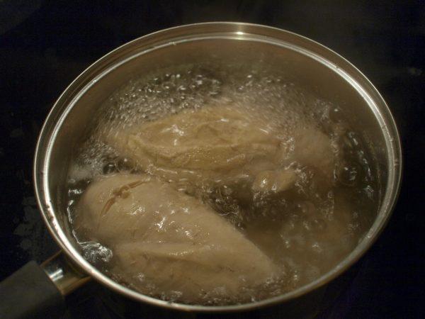 Отваривание куриного филе