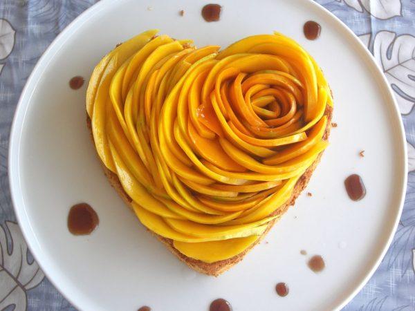 Сердце из манго