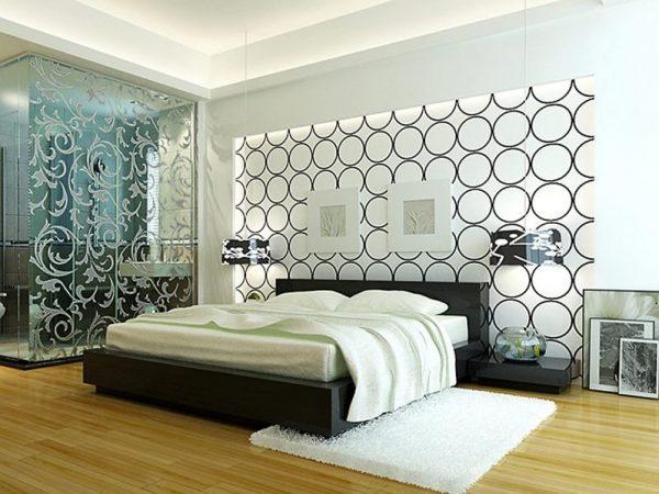 Витражи в интерьере спальни
