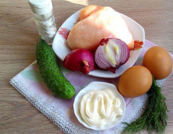 Продукты для салата «Нежность»