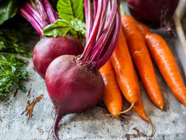 Свёкла и морковь