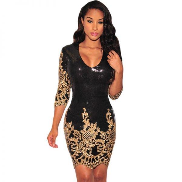 Облегающее платье с вышивкой