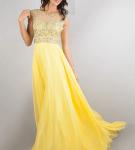 Жёлтое платье со стразами