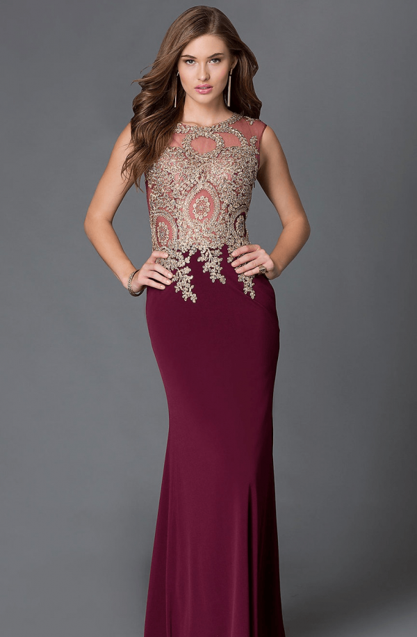 вечернее платье цвета красная груша 2018