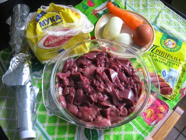 Продукты для оладий с морковью