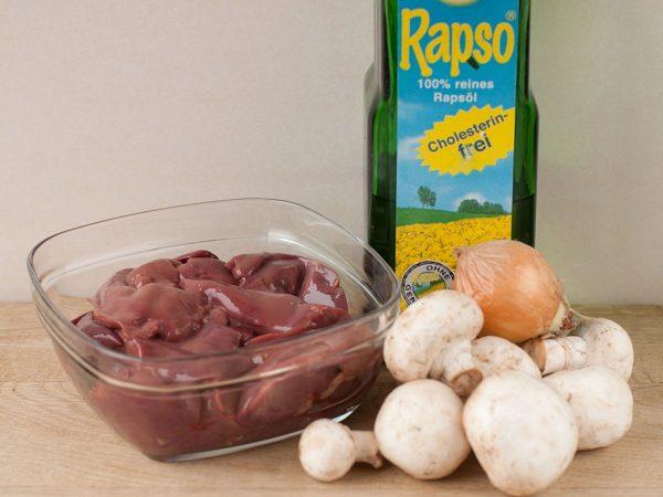 Продукты для оладий с грибами