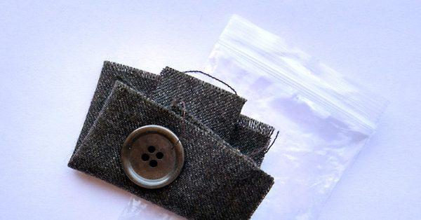 лоскут ткани новой одежды