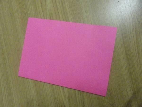 Лист картона розового цвета