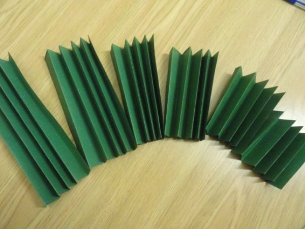 Заготовки из цветной бумаги для самодельной открытки