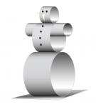 Снеговик из бумажных колец