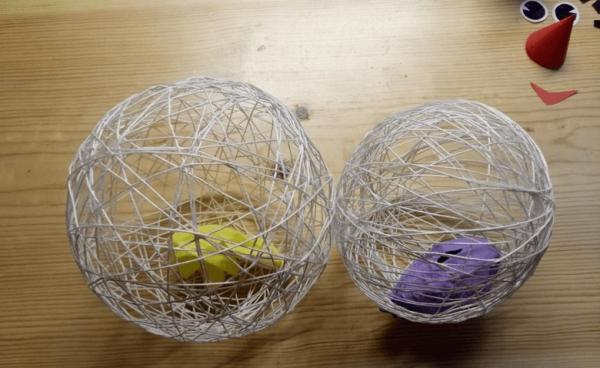 Заготовки для снеговика из ниток