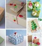 коллаж с оформлением новогодних подарков
