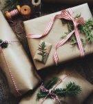 крафтовая упаковка подарка