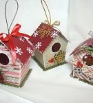 Подарочные бумажные коробочки в виде домиков